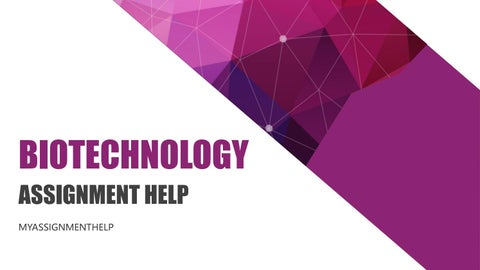 Biotechnology Assignment help by Abc Assignment Help - issuu