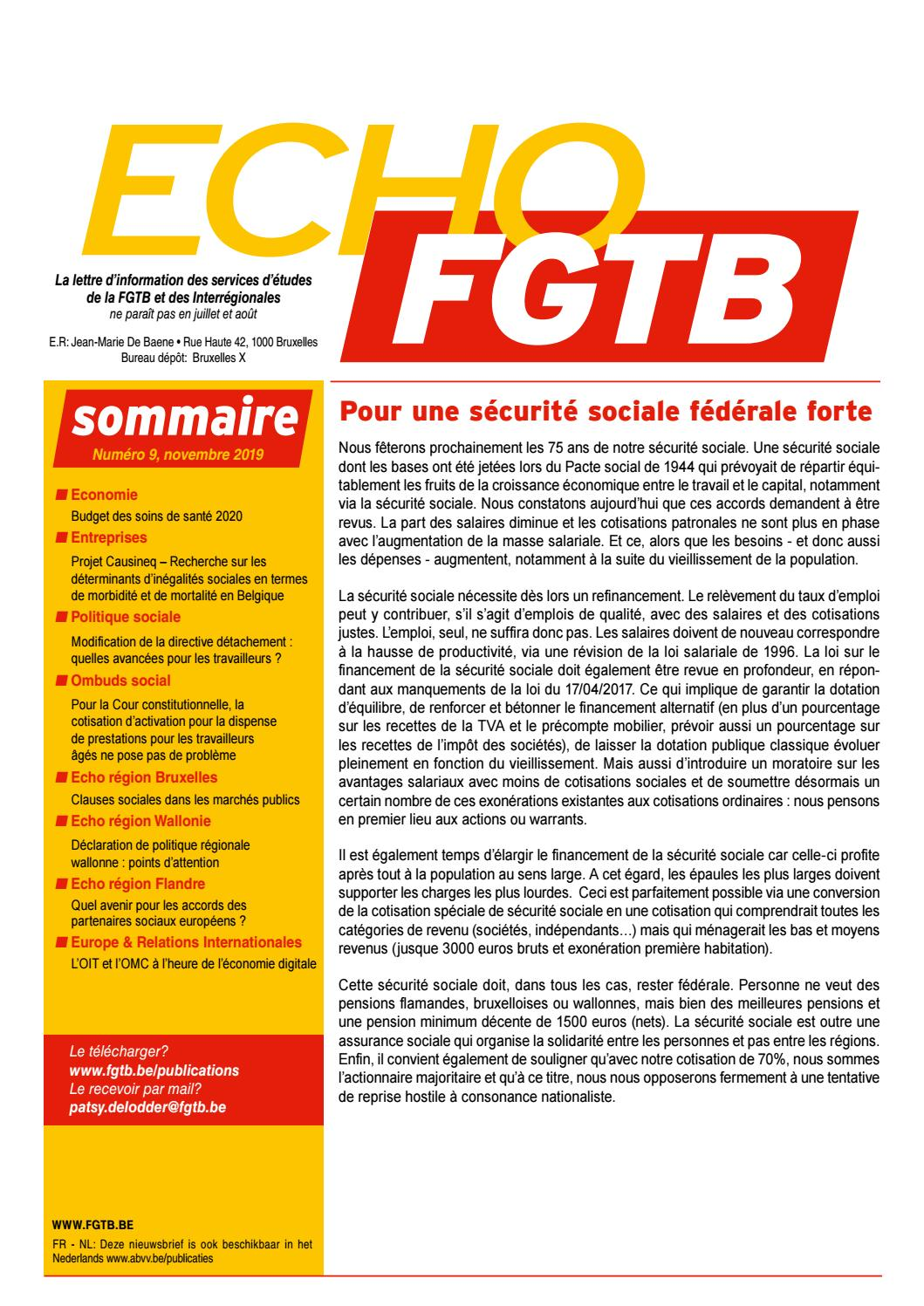 Echo N 9 2019 By Fgtb Issuu