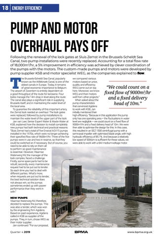 Page 18 of Energy Efficiency: Pump and motor overhaul pays off