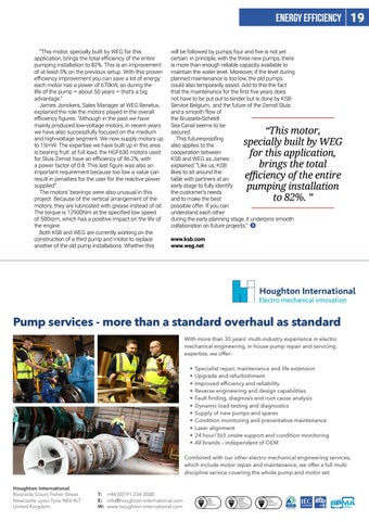 Page 19 of Energy Efficiency: Pump and motor overhaul pays off