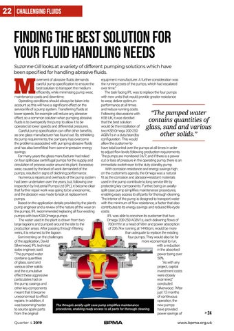 Page 22 of Finding the best solution for your fluid handling needs