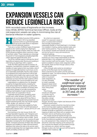 Page 30 of Expansion vessels can reduce legionella risk