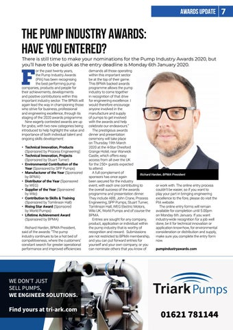 Page 7 of THE PUMP INDUSTRY AWARDS: