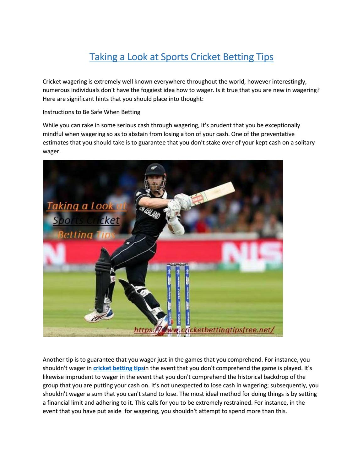 Cricketbettingtipsfree safe anti martingale betting system