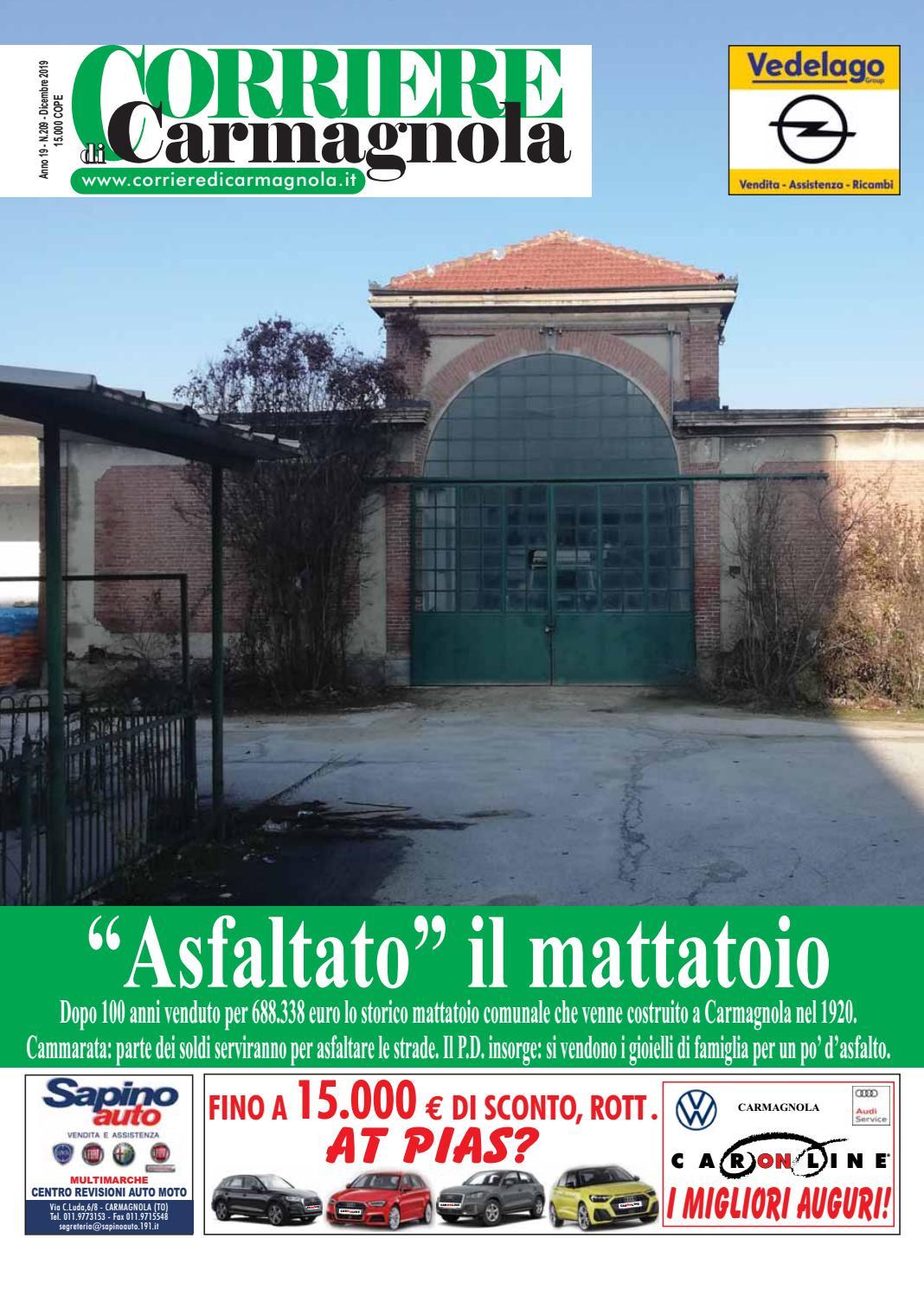 Corriere Di Carmagnola Dicembre 2019 By Corriere Di Carmagnola Issuu