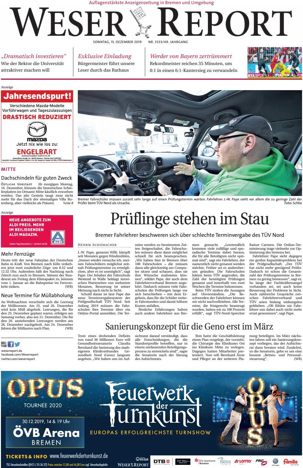 Weser Report   Mitte vom 20.20.20 by KPS Verlagsgesellschaft mbH ...