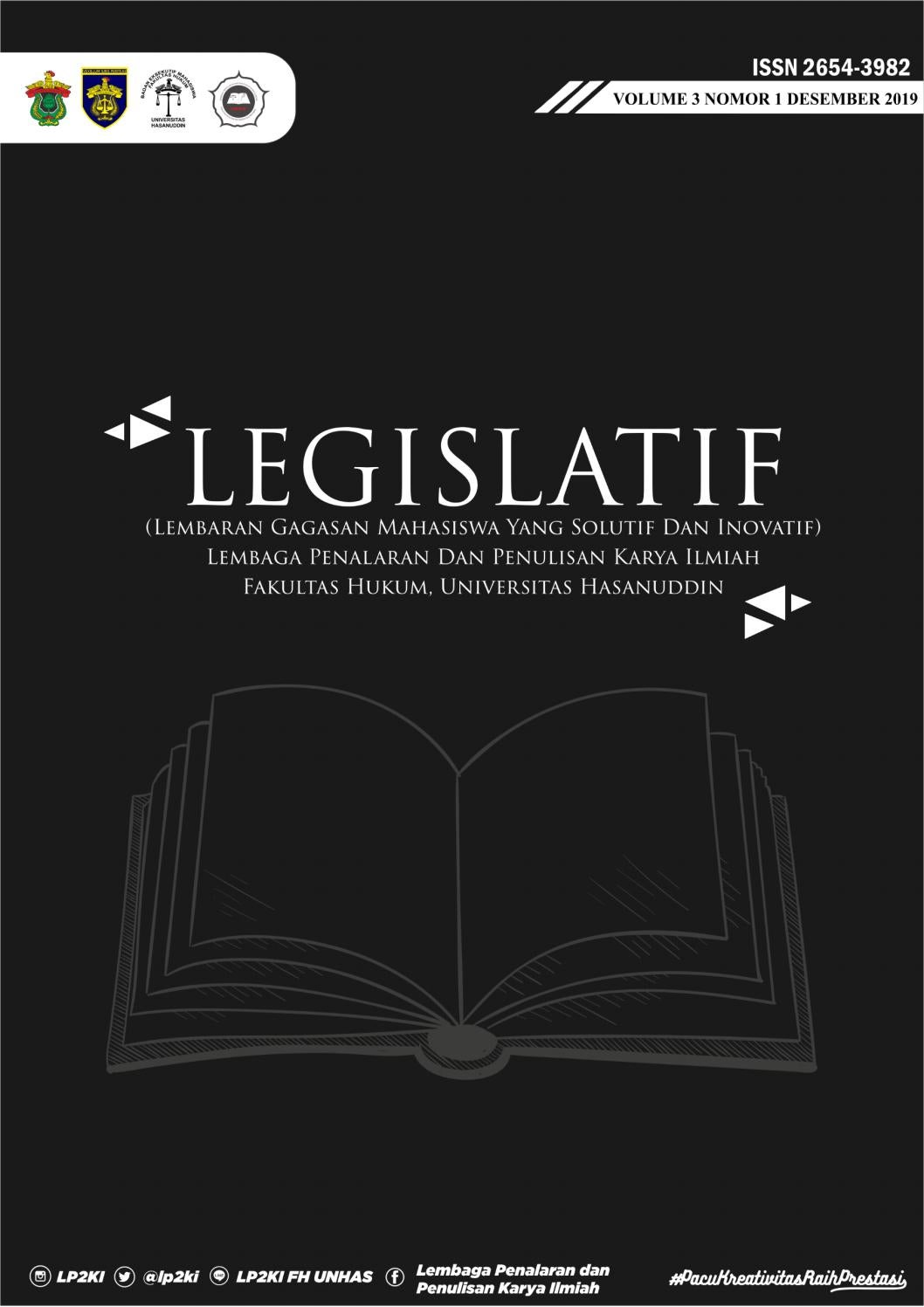 Jurnal Legislatif Volume 3 Nomor 1 Desember 2019 By Lp2ki Fh Uh