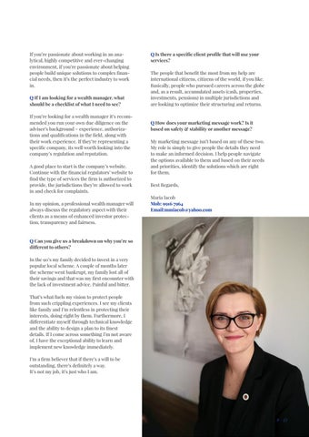 Page 17 of PRIVATE CLIENT ADVISOR Maria Iacob