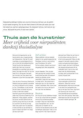 Page 13 of Thuis aan de kunstnier Meer vrijheid voor nierpatiënten dankzij thuisdialyse