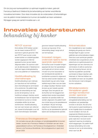Page 9 of Innovaties ondersteunen behandeling bij kanker