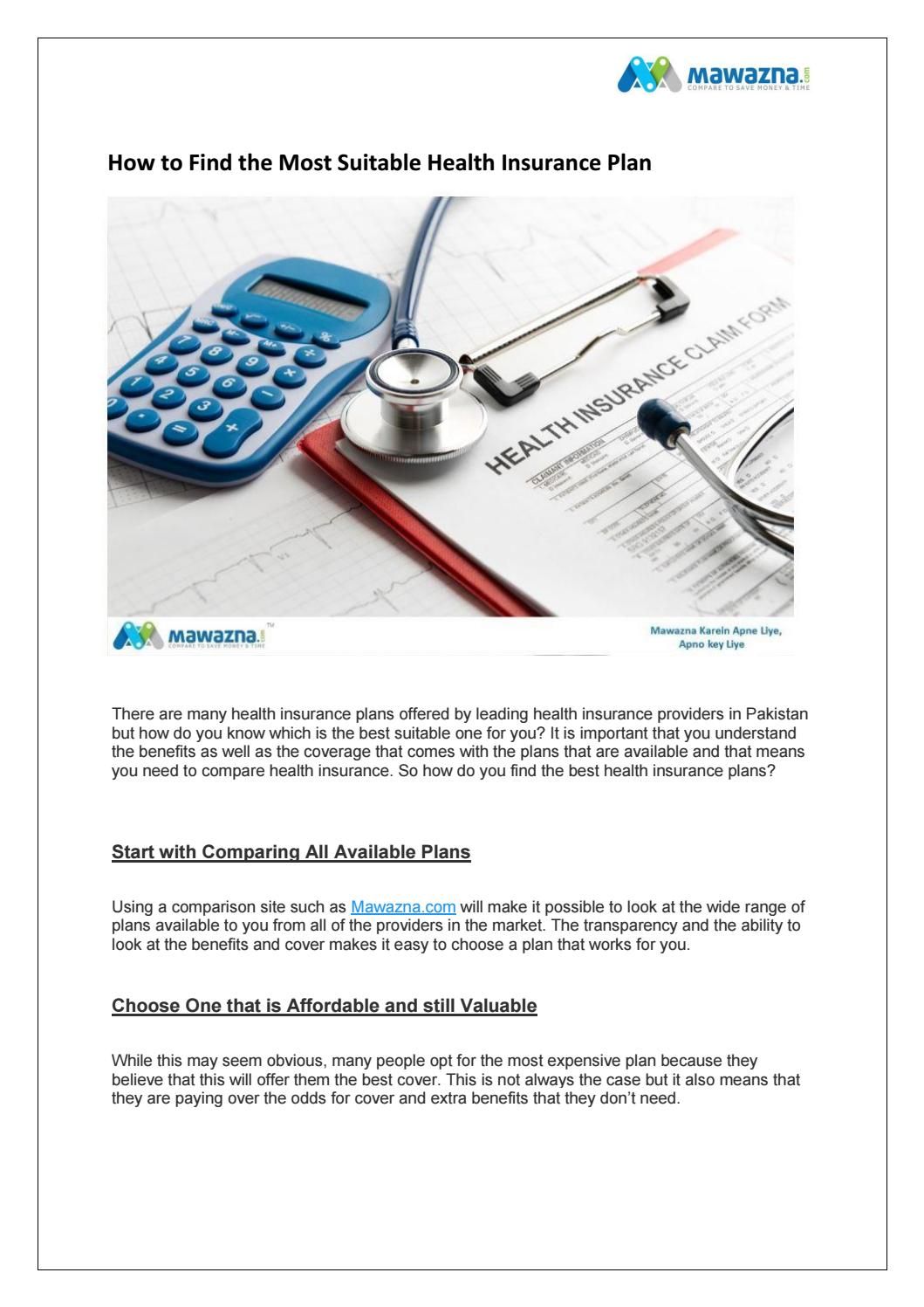 How To Find The Most Suitable Health Insurance Plan By Mawazna Community Issuu