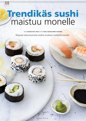 Page 44 of Trendikäs sushi maistuu monelle
