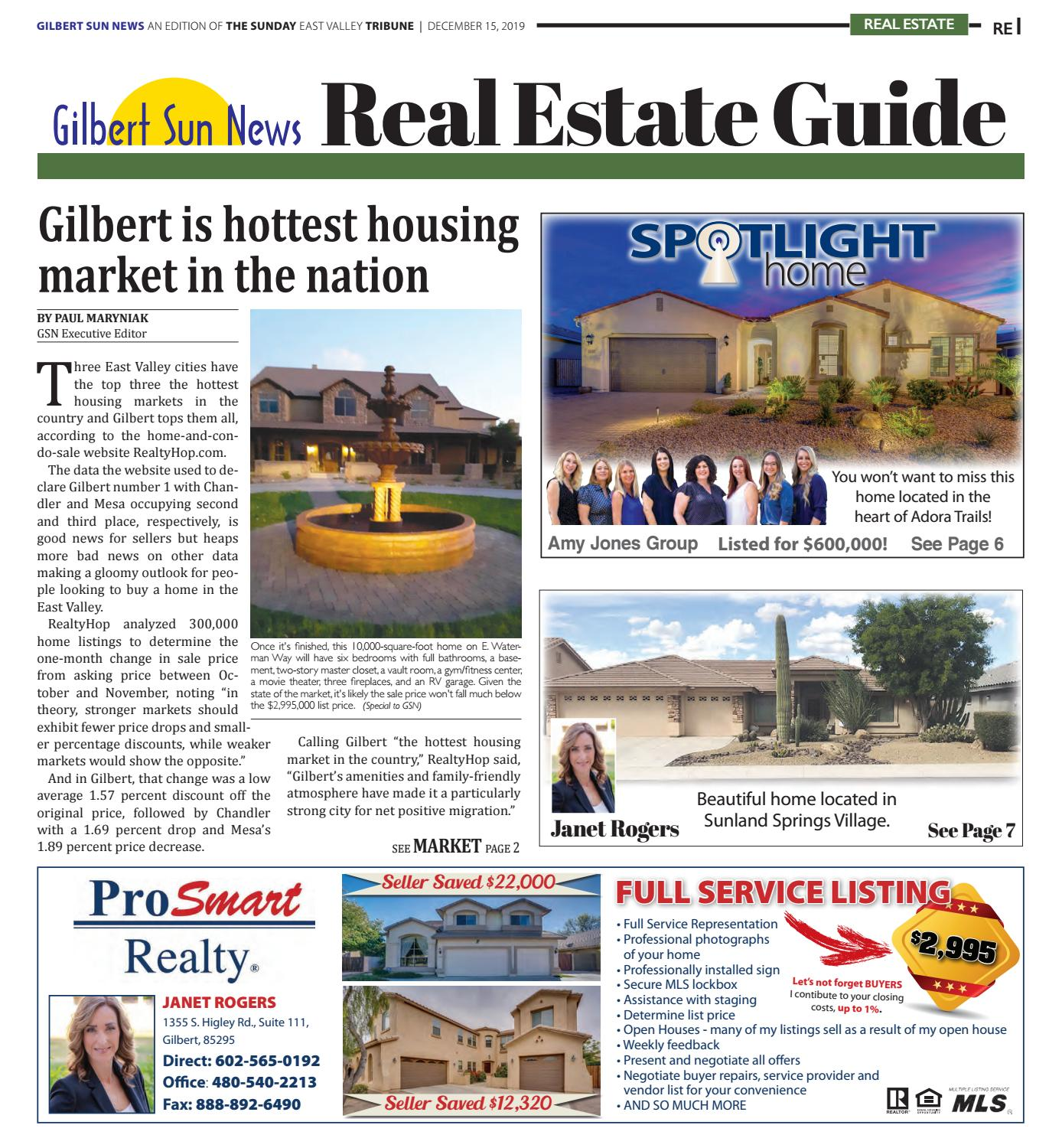 Gilbert Sun News Real Estate Guide December 2019