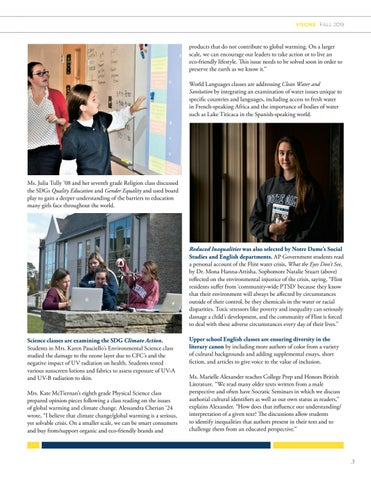Page 5 of VISIONS MAGAZINE - FALL 2019
