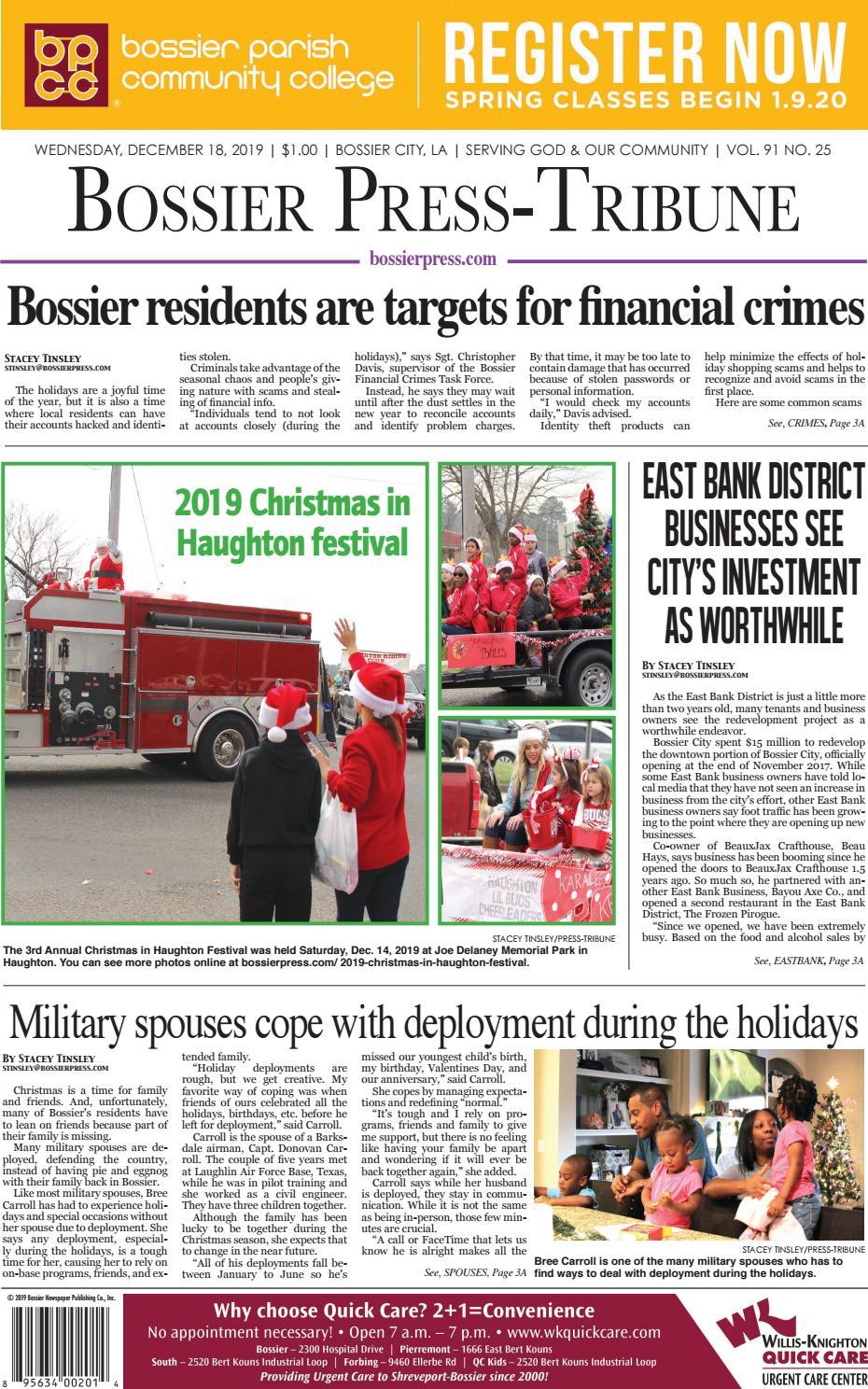 Bossier Press Tribune 12 18 19 E Edition By Bossier Press
