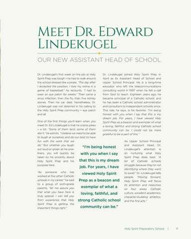 Page 11 of Meet Dr. Edward Lindekugel: Our New Assistant Head of School