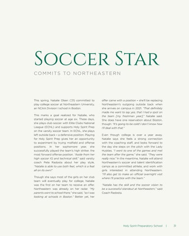 Page 31 of Soccer Star Commits to Northeastern