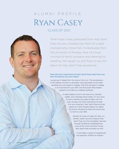 Page 52 of Alumni Profile: Ryan Casey, Class of 2012