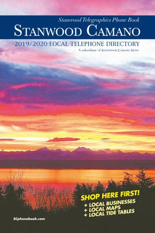 Stanwood Camano 2019 2020 Phone Book By
