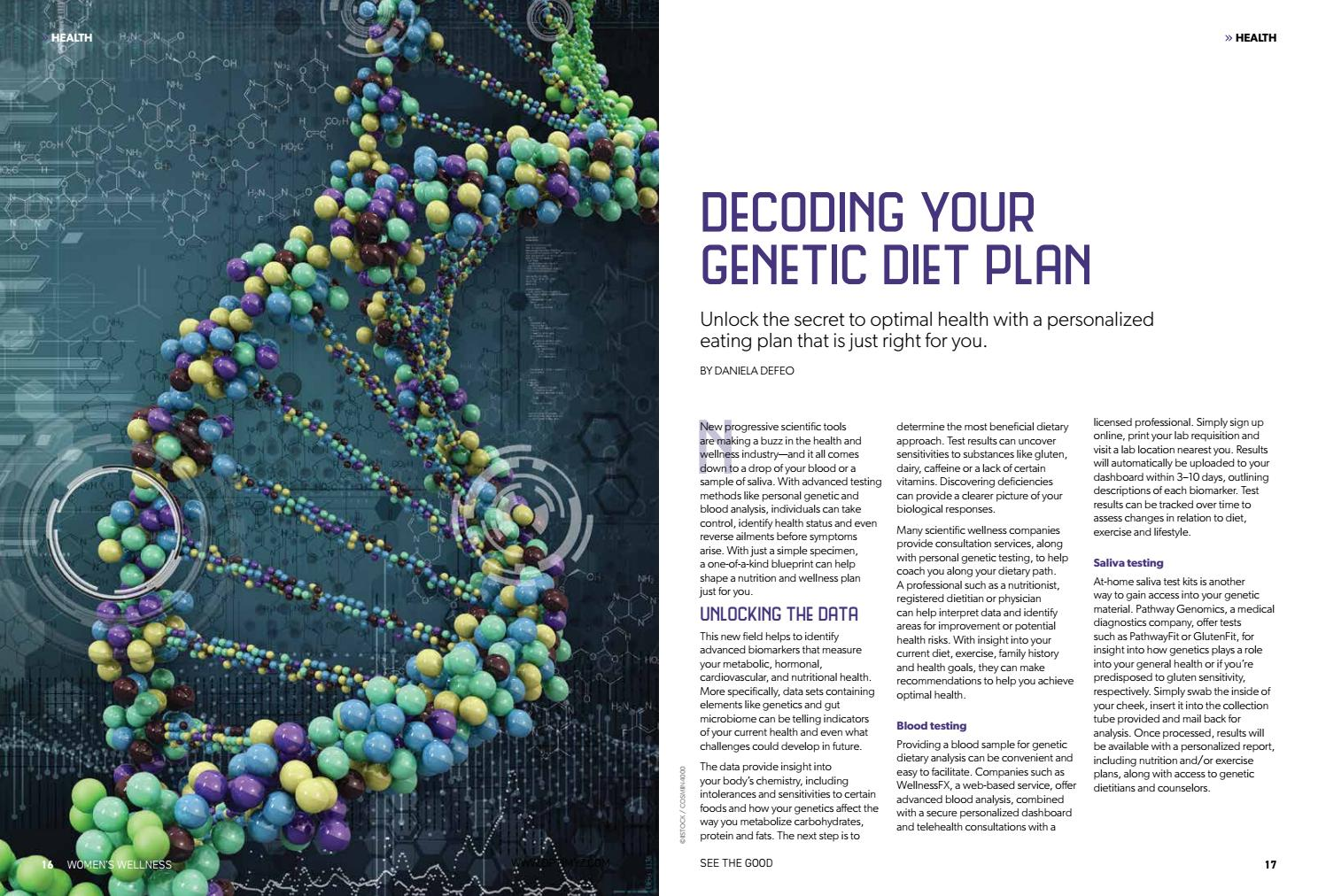 Decoding Your Genetic Diet Plan By Daniela Deevitareflections Issuu