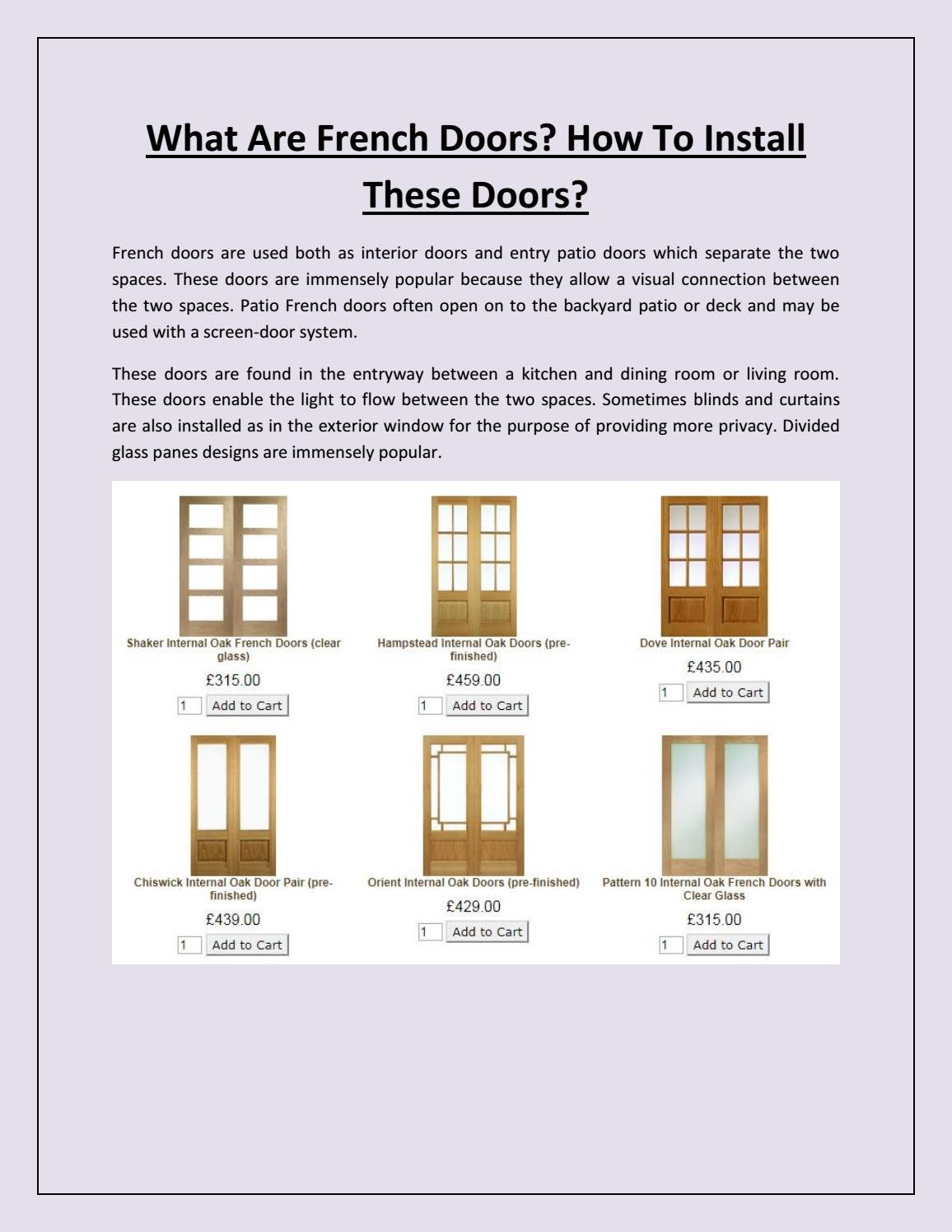 What Are French Doors How To Install These Doors By Fine Doors Issuu