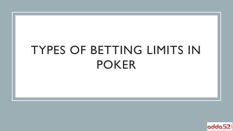 betting limits in poker