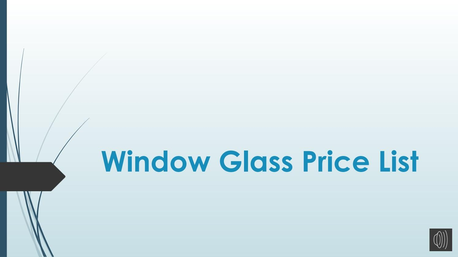 Window Glass Price List By Suppliersplanet Issuu