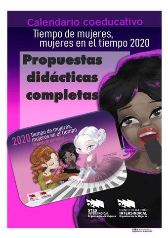 """Cover of """"Actividades completas del Calendario Tiempo de Mujeres 2020"""""""