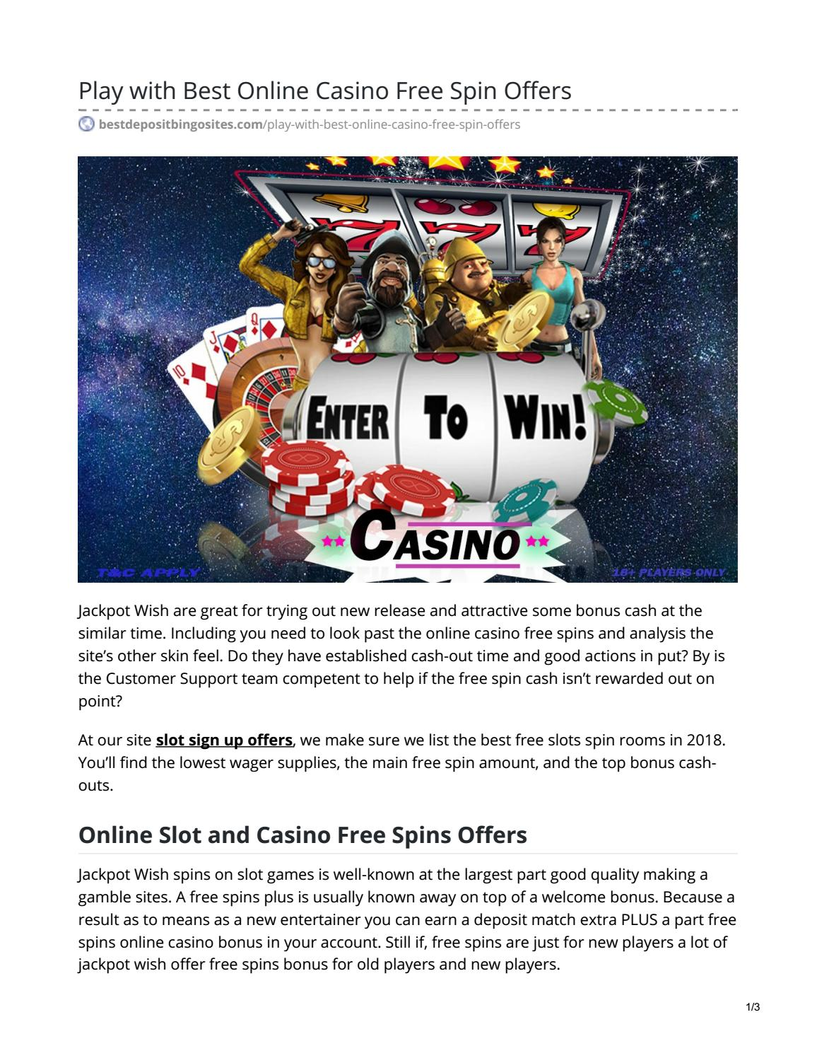 Play With Best Online Casino Free Spin Offers By Mohit Sharma Issuu