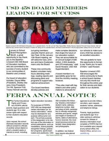 Page 4 of USD 458 Board Members Leading for Success