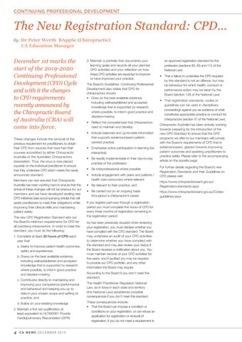 Page 4 of New Registration Standard: CPD...