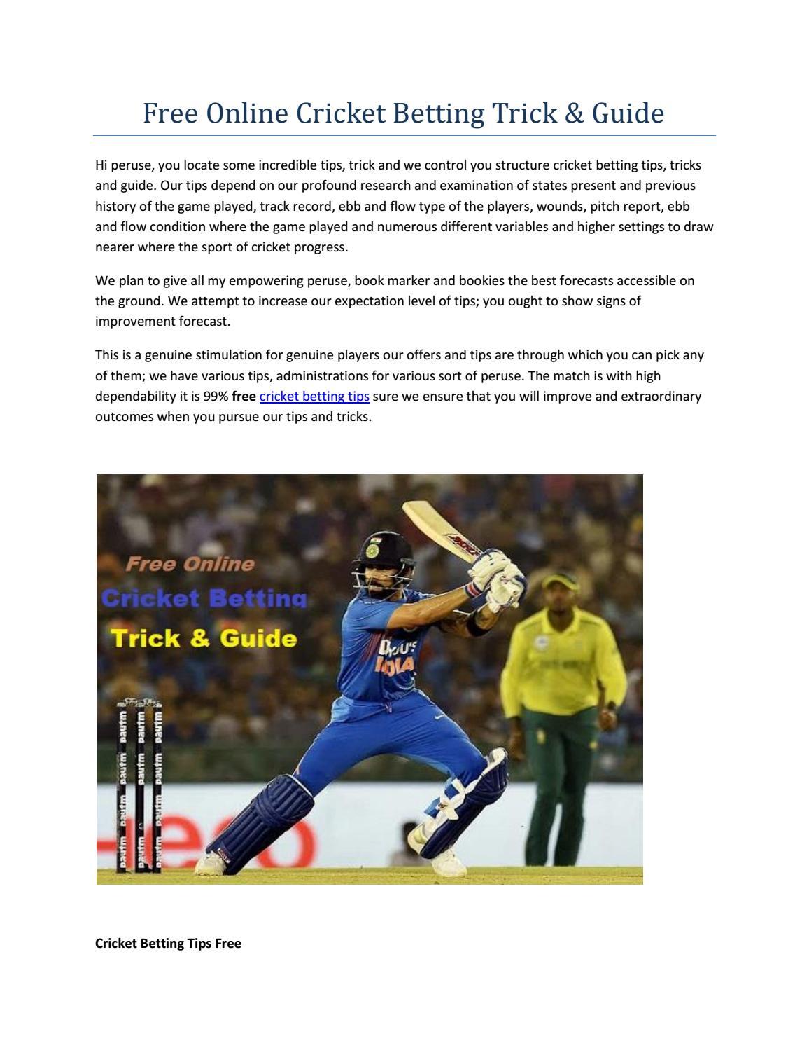 cricket betting online free