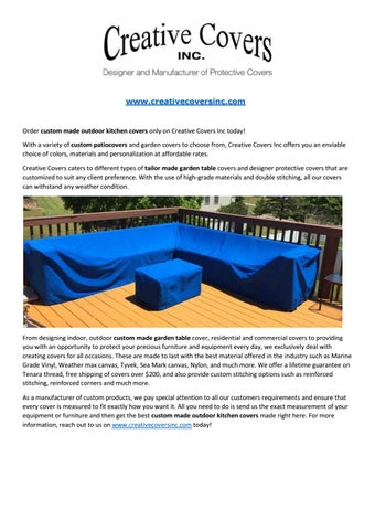 Custom Made Outdoor Kitchen Covers