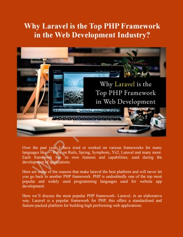 Why Laravel Is The Top Best Php Framework By Wdp Infosolutions Issuu