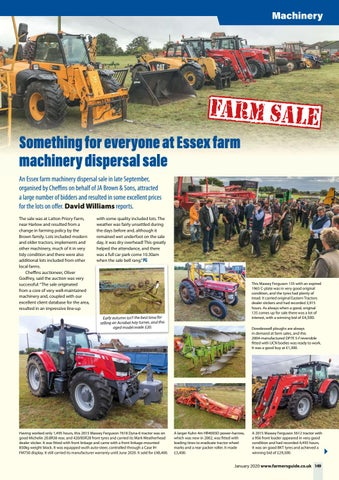 Page 149 of Essex Farm Machinery Sale