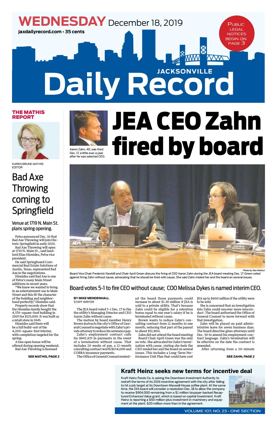 Jacksonville Daily Record 121819 By Daily Record