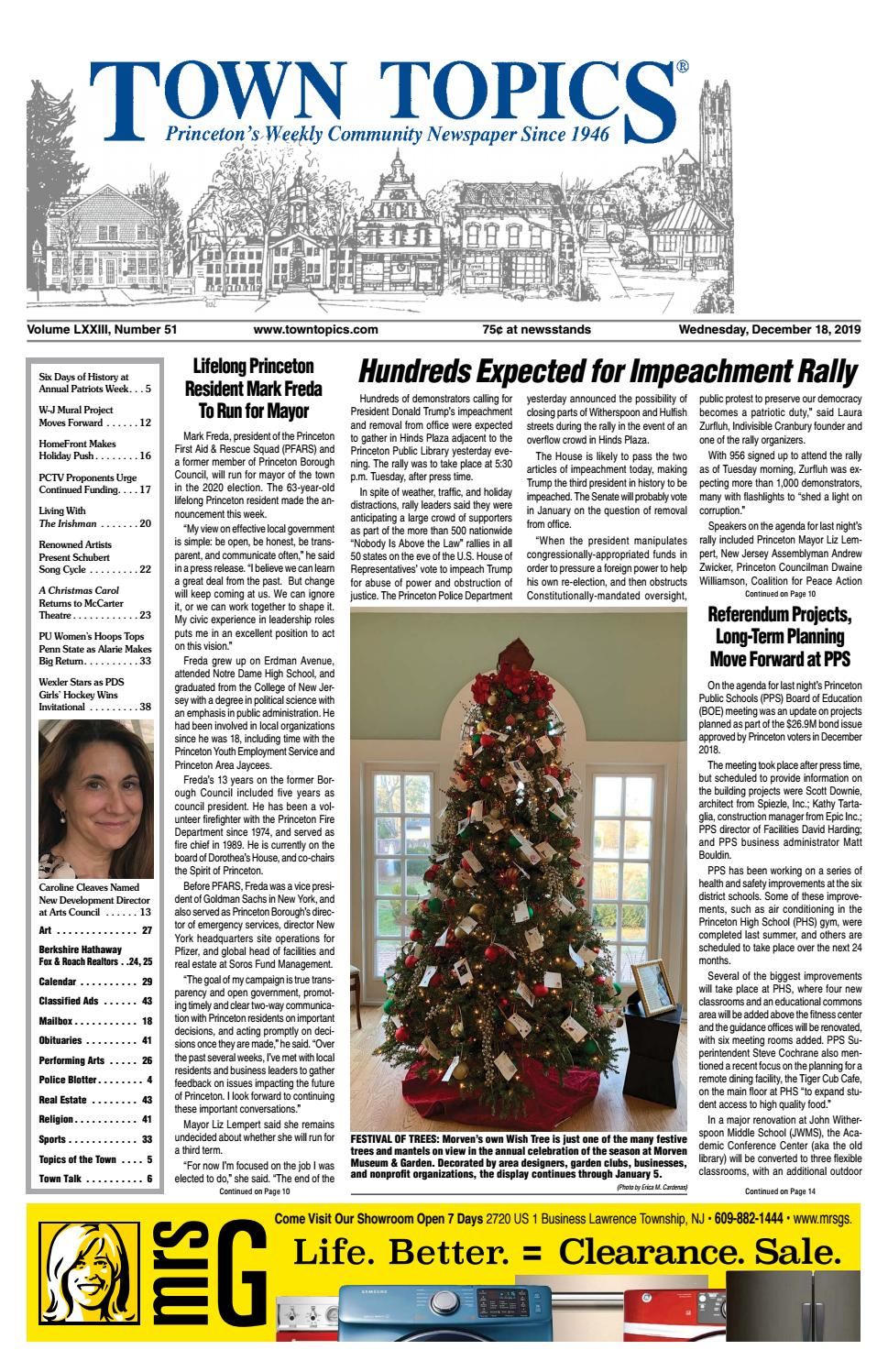 Town Topics Newspaper, December 18 by Witherspoon Media Group   issuu