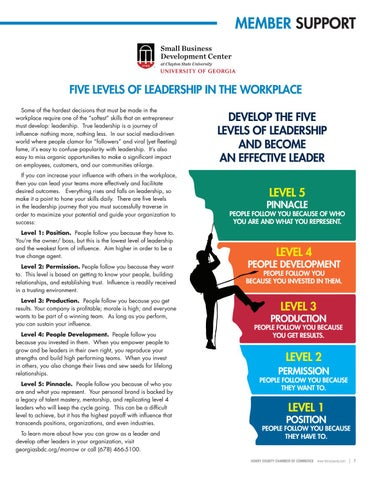 Page 7 of Five Levels of Leadership in the Workplace