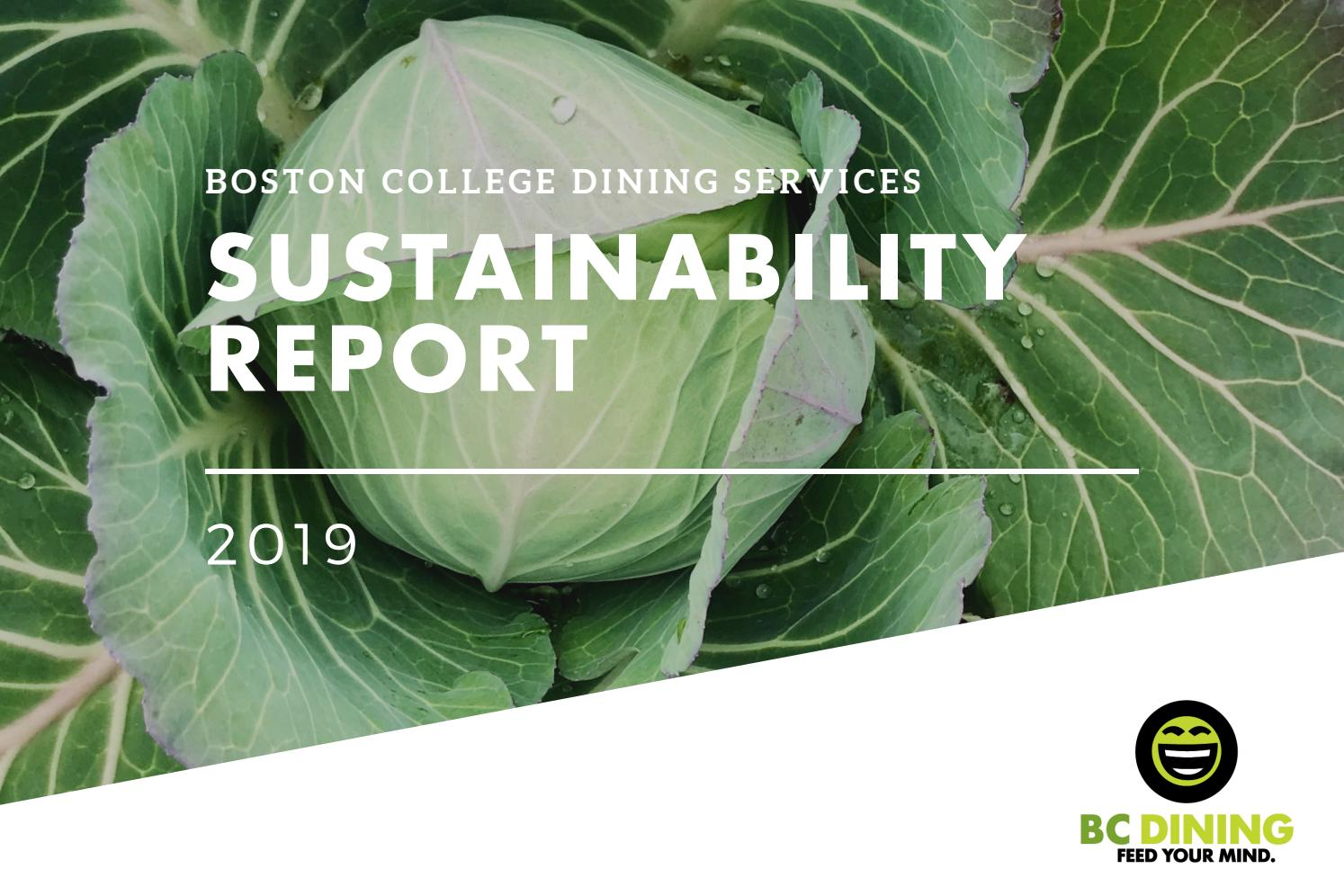 2019 Boston College Dining Services Sustainability Report By Bc Dining Issuu