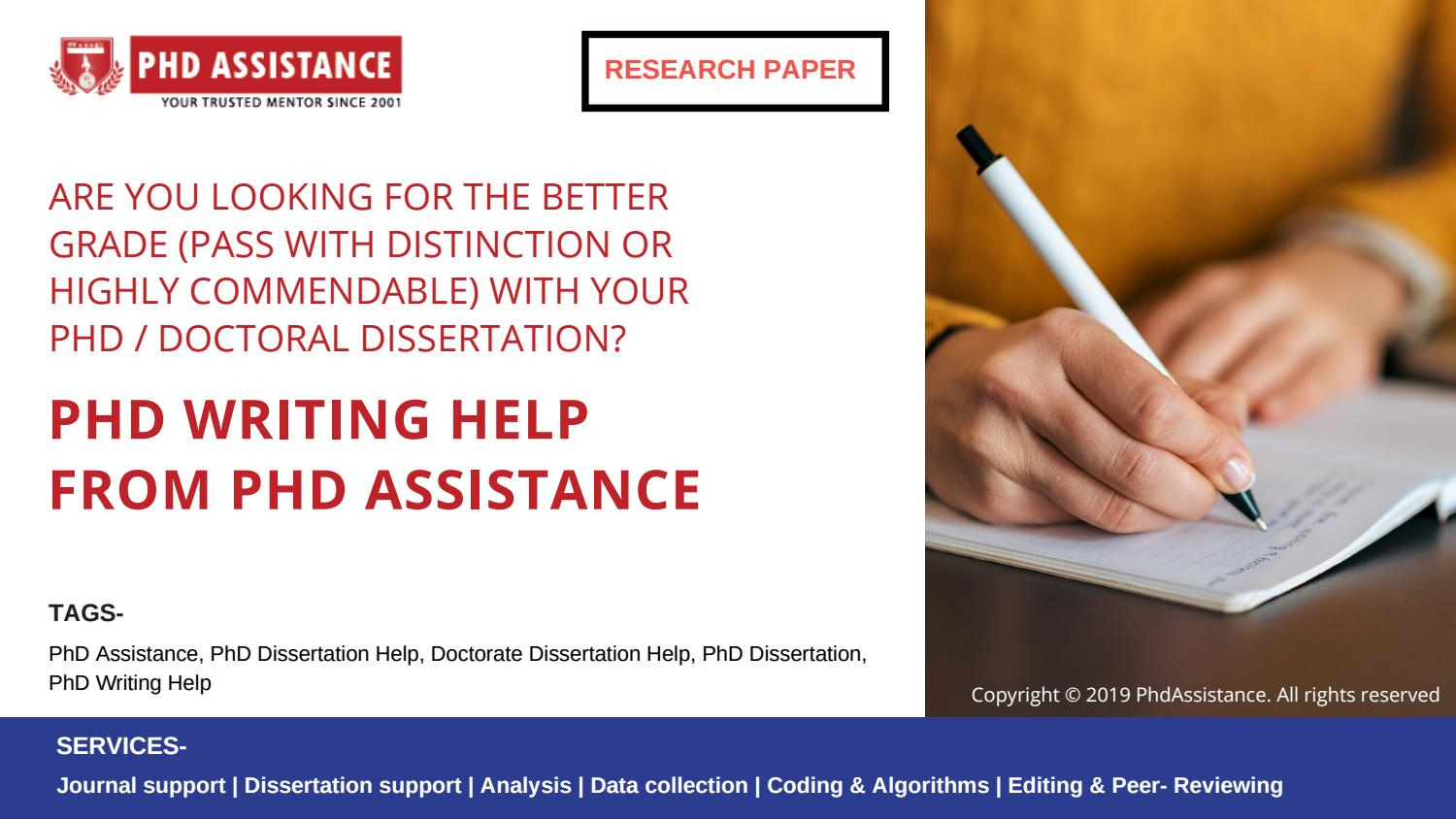 Doctoral Dissertation Assistance