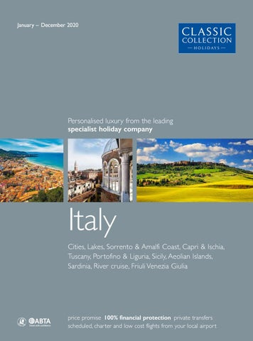 Classic Collection Holidays Italy 2020 By Travel Designers