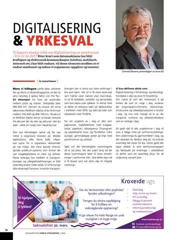 Page 18 of DIGITALISERING & YRKESVAL