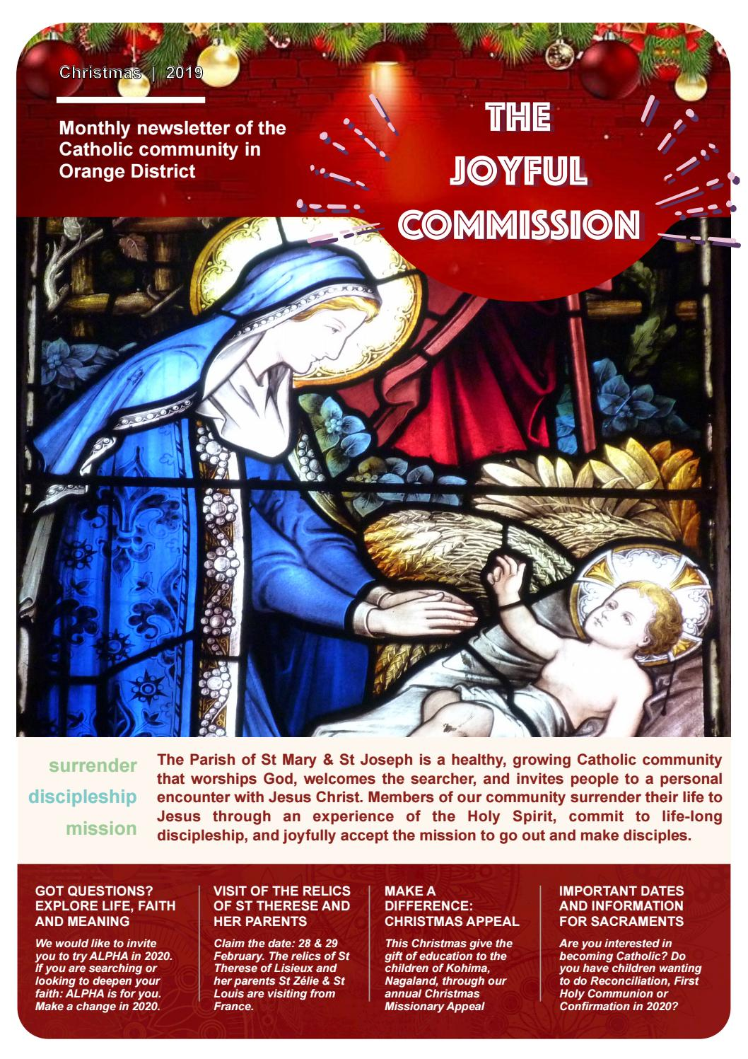 The Joyful Commission   January 2020 by Catholic Diocese of