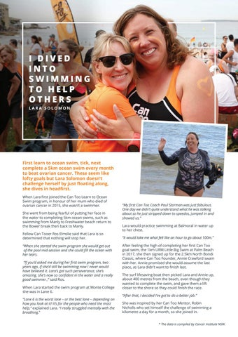 Page 12 of LARA SOLOMON: I DIVED INTO SWIMMING TO HELP OTHERS