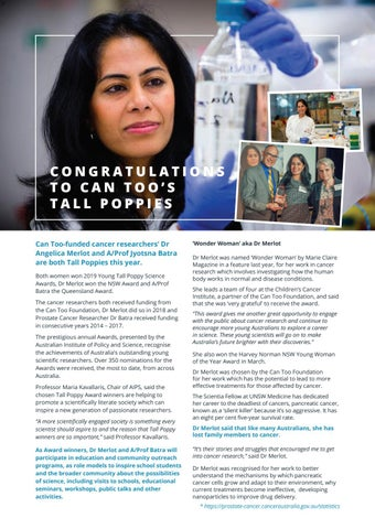 Page 14 of CONGRATULATIONS TO CAN TOO'S TALL POPPIES