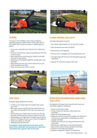 Page 25 of YOU CAN TOO BE A STRONGER RUNNER WITH PILATES