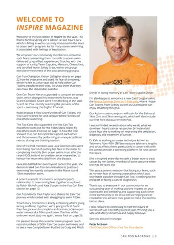 Page 3 of WELCOME TO INSPIRE MAGAZINE