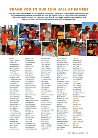 Page 5 of Thank You to our 2019 Hall of Famers