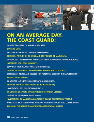 Page 126 of On an Average Day, The Coast Guard:
