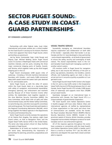 Page 74 of SECTOR PUGET SOUND: A CASE STUDY IN COAST GUARD PARTNERSHIPS